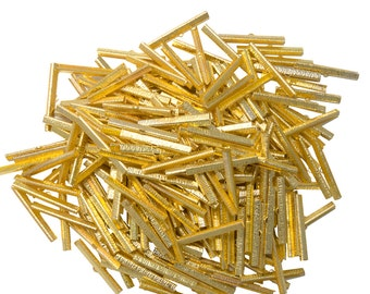 500 pieces  50mm  (2 inch) Gold Ribbon Clamp End Crimps - Artisan Series