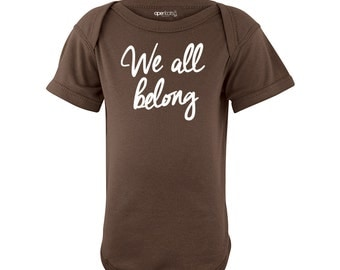 Apericots Cute Inclusive We All Belong Short Sleeve Baby Bodysuit