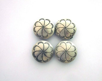 Sterling Silver Southwest Button Covers