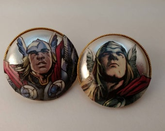Round Thor Earrings With Pearl Accents