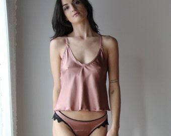 stretch silk lingerie set - ALICE silk charmeuse with spandex bridal sleepwear range - made to order