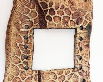 Pottery for Weaving Window rectangular loom style, Giraffe Pattern