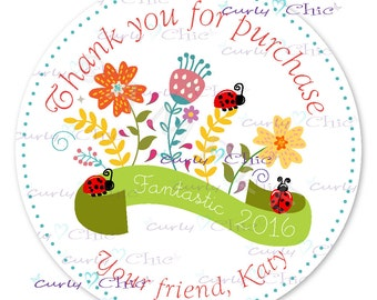 Thank you Sticker -Personalized Thank you Stickers -Custom Seal Labels -Custom Business Labels -Personalized Shop Thank you Stickers