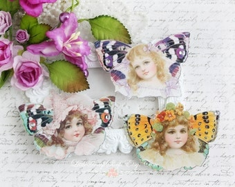 Fairy Girls Die Cut Embellishments in Bright Shades  for Scrapbooking, Cardmaking, Mixed Media, Altered Art