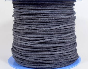 2mm Round Suede Cord - Dark Grey - 2MRS-6 - Choose Your Length