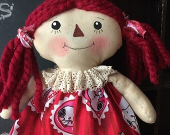 Raggedy Annie red peanuts snoopy red valentine