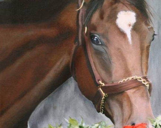 Kentucky, Barbaro Churchhill Downs Giclee Print from original oil painting of Barbaro Kentucky Derby Winner