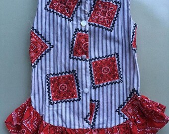 Girls vintage western handmade dropwaist dress or tunic
