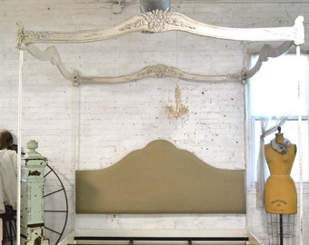 Painted Cottage Chic Shabby Romantic Bed Queen/ King