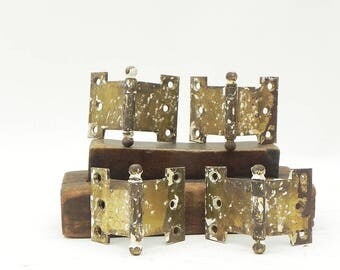 Lot of 4 Salvaged Vintage Hinges DIY Repurpose Assemblage Steampunk Supply