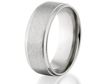 New 8mm USA Made Jewelry- Titanium Ring-8RC-ST