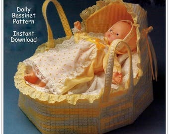 Baby Doll Bassinet Pattern - Plastic Canvas Pattern PC103127