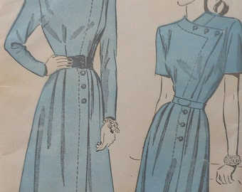 Vintage Dress Sewing Pattern UNCUT Advance 4705 Size 16