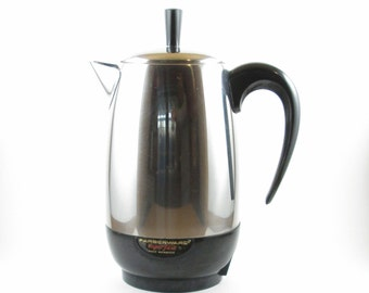 Percolator Coffee Pot Farberware Superfast Fully Automatic Stainless Steel- No Cord