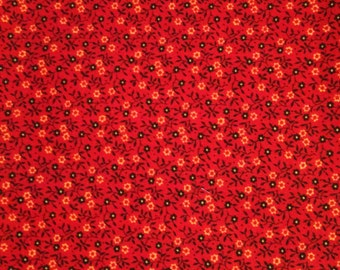 Classic Calico - Red Calico By The Yard - Red Cotton Fabric