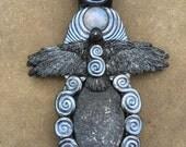 Raven Totem - Polymer Clay Animal Totem jewelry