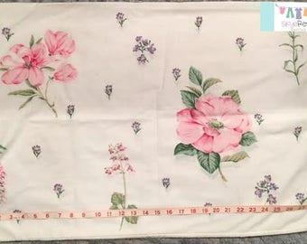 Vintage Large Pink Floral Pillowcase