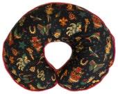 Black Retro Tattoo Boppy Pillow Cover for baby boy or girl Nursing Pillow Cover Breastfeeding Pillow