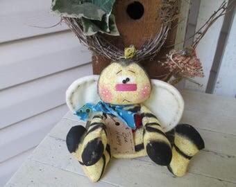 Bumblebee Shelf Sitter, Bumblebee Cupboard Tuck, Bumblebee Ornie, Country Decor, Rustic Decor, Primitive Bumblebee