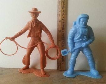 Large Scale Marx Cowboy and Astronaut - Great for Assemblage