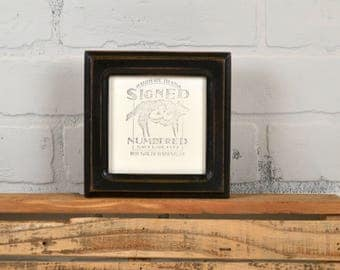 4x4 Square Photo Picture Frame in Double Cove Style with Vintage Black Finish - IN STOCK -  Same Day Shipping - 4x4 Picture Frame
