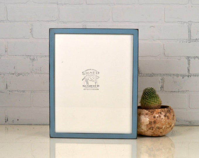 """11x14"""" Picture Frame in Peewee Style with Vintage Black under Smokey Finish - IN STOCK - Same Day Shipping - Handmade 11 x 14 Frame"""