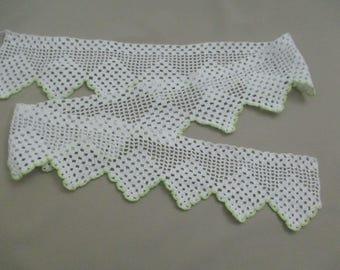 Hand Crochet Vintage Lace Trim Cotton Antique Lace