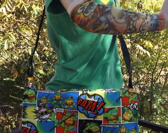 Teenage Mutant Ninja Turtles  Messenger Bag  / Hip Bag  OOAK  Crossbody  TMNT