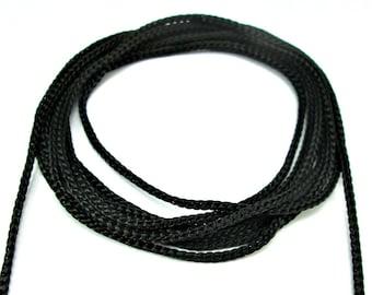 Black crochet cord, black crochet yarn, macrame cord, macrame yarn, 100m