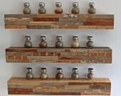 Reclaimed Wall Art Floating Shelf