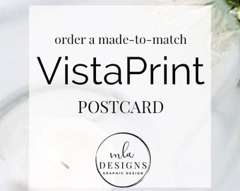 VistaPrint Postcards - Any Size - DIY or Custom Made to Match any of My Designs - Bow Cards Invitations Marketing Thank You Cards