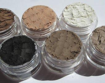 6 Shades Matte/Semi-Matte/Cruelty-Free/ Vegan /Makeup Gift Set/  Loose Powder Mineral Eyeshadows  Gift Set