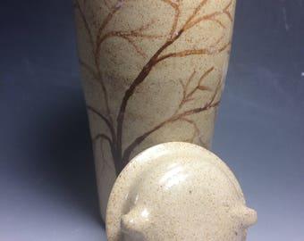 Tree painted travel mug
