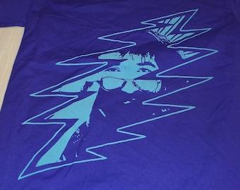 T-Shirt - Jerry Bolt (Gray on Purple)