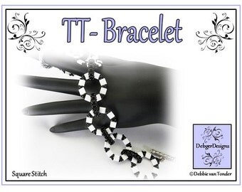 Beading Pattern, Tutorial, Tila and Twin Bracelet - TT
