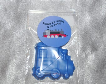 Tain Party Favors, Crayons, Train Party Favors, Recycled Crayons and Stickers/ 20 Train Stickers and 20 Train Crayons