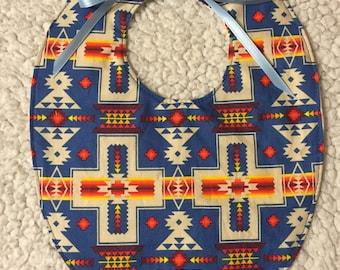 Bib - Native American Blue Geometric
