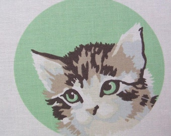 Meow or Never Paint By Number Cat Bird Garden Rose Moda Fabric