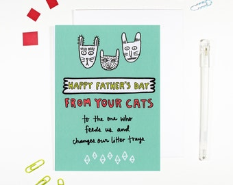 Happy Father's Day From Your Cats Card