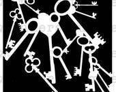 Key Pile Stencil