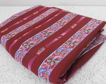 floral stripes...vintage fabric yardage