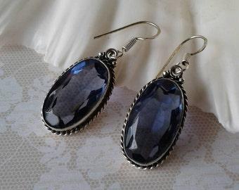Vintage Purple Glass Earrings