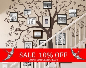 Sale - Staircase family Tree Wall Decal  Tree Wall Decal Sticker