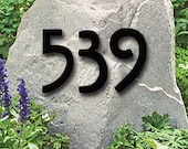 Set of 5 Mission Style House Numbers or Letters / 2 Inch up to 8 Inch / Address / Metal / Business / Colored / Office / Powder Coated