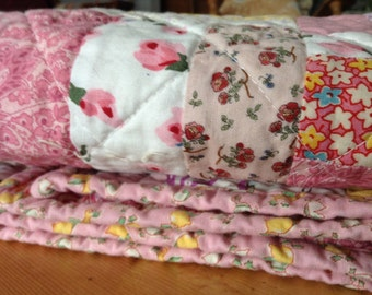 Baby Quilt, Girl, Crib, Pinks