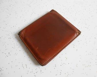 Vintage Men's Coach Wallet Leather and Suede Coach Bi-Fold Wallet Used Condition Coach Wallet Dark Cognac Color 60's-70's Era