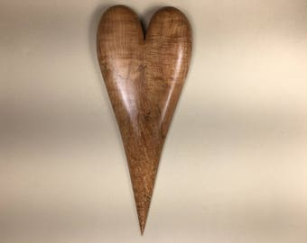 Wooden Heart Wood Carving Home Decor Wall Hanging Birthday Gift