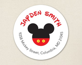 Mickey Mouse Address Labels - Sheet of 24