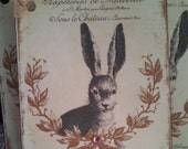 french market le lapin bunny tags set of 4