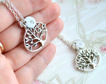 Tree of life necklace Best friend necklace set of 2 Tree of life Friendship jewelry Personalized jewelry Best Friend gifts set 2